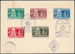 1949 Lánchíd Fogazott + Vágott Sorok 2 FDC-n (5.400) - Stamps
