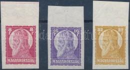 ** 1929 Szent István (II.) ívszéli Vágott Sor, Ritka (40.000++) - Stamps
