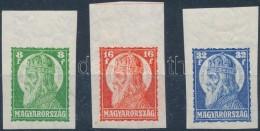 ** 1928 Szent István ívszéli Vágott Sor, Ritka (40.000++) - Stamps