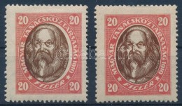 * 1919 Tanácsköztársasági Arcképek 20f  Középrész... - Stamps