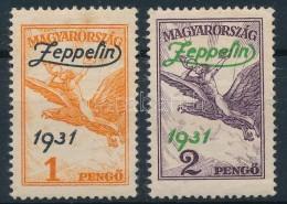 ** * 1931 Zeppelin Sor (1P Felcnyom és Rozsdafoltok) - Stamps