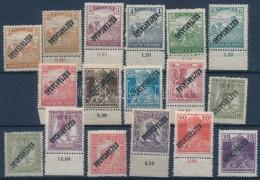 ** * 1918 17 Db Köztársaság Fordított Felülnyomással - Stamps