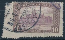 O 1916 10K Durva Elfogazással, Ritka Látványos Darab - Stamps