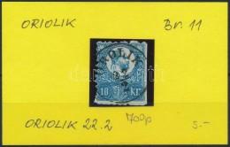 O 1871 Réznyomat 10kr 'OROLIK' Luxus Bélyegzéssel (Gudlin 700 P)(ollóval Vágva) - Stamps