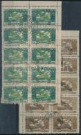 O 1924 Ikarusz 500K + 1.000K 10-es Tömbökben, Hamisítvány - Stamps