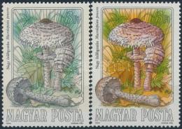 ** 1984 Gombák 3Ft ErÅ's Színeltérés (!?) + Támpéldány - Stamps