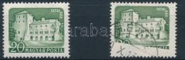 O 1960 Várak 20f Látványos Nyomathiánnyal Kitakarás Miatt, Ritka! +... - Stamps