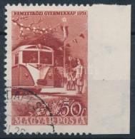 O 1954 Gyermek 50f ívszéli, Jobb Oldalon Fogazatlan - Stamps
