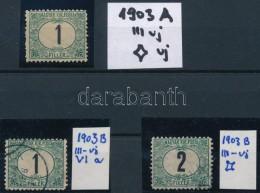 * O 1903 Portó 2 X 1f és 2f Szám és Csillag Vízjellel - Stamps