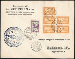 1931 Zeppelin Magyarországi Körrepülése Levél 2P Zeppelin Bélyeggel  (18.000)... - Stamps