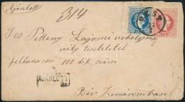 1867 5kr Díjjegyes Boríték 10kr Díjkiegészítéssel Ajánlott... - Stamps