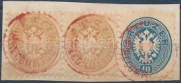 1864 2 X 15kr + 10kr Piros 'PEST RECOMANDIRT' - Stamps