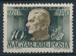 ** 1940 Kormányzói 20 éves évforduló 10f, Látványos KettÅ's... - Stamps