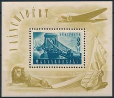 ** 1948 Lánchíd (II.) Blokk (25.000) (betapadás/ Gum Distrubance) - Stamps