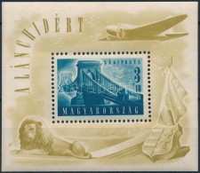 ** 1948 Lánchíd (II.) Blokk (25.000) (ráncok/ Creases) - Stamps