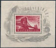 ** 1948 Lánchíd (I.) Blokk (25.000) (ráncok/creases) - Stamps