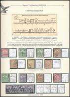 O 1908-1909 15 Db Turul Bélyeg Vonalvízjellel Kiállítási Lapon - Stamps