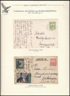 1912-1917 2 Db Képeslap 1909. évi Füzetbélyeggel, Az Egyik Hadi RepülÅ'... - Stamps