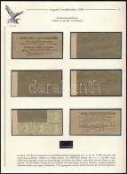 ** 1900 5f Bélyegfüzet Szétszedve 4 Db Bélyeggel Kiállítási Lapon - Stamps