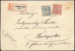 1900 5kr + Turul 25f Vegyes Bérmentesítés Ajánlott Levélen 'SZABADKA' - Stamps