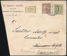 1900 3kr + Turul 4f Vegyes Bérmentesítés Távolsági Levéle,... - Stamps