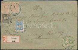 1900 1kr + 2 X 2kr (egyik Hiányos) + 10kr + Turul 5f Vegyes Bérmentesítés... - Stamps