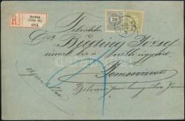 1900 20kr + Turul 5f Vegyes Bérmentesítés Ajánlott Levélen 'GYARMATA' - Stamps