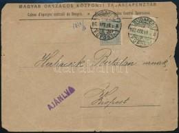1900 20kr + Turul 5f Vegyes Bérmentesítés Ajánlott Levélen (szakadozott... - Stamps