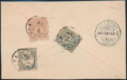 1900 2kr + 20kr + Turul 1f Vegyes Bérmentesítés Levél Hátlapon - Stamps
