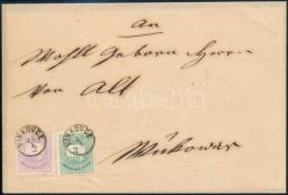 1876 Színes Számú 2kr + 3kr Távolsági Levélen 'VINKOVCE'... - Stamps