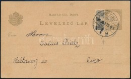 1900 2kr Díjjegyes LevelezÅ'lap Felezett 1kr Díjkiegészítéssel 'NAGY-SZEBEN' - Stamps