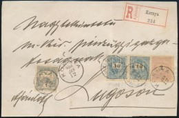 1900 2kr + 10kr Pár + Turul 1f Vegyes Bérmentesítés Ajánlott Levél... - Stamps
