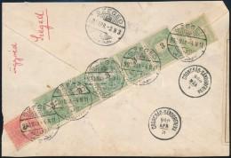 1900 3kr ötöscsík + 5kr + Turul 5f Vegyes Bérmentesítés Levél... - Stamps