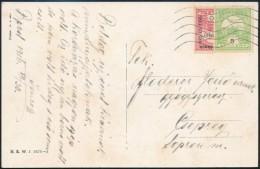 1916 Felezett 10f + 5f Budapest - Csepreg (Floderer LevelezésbÅ'l) - Stamps