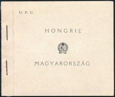 ** 1949 UPU Füzet 6 'C' Sorral, 2 Szélén Vágott (35.000) / Stamp Booklet With 6 X 1056... - Stamps