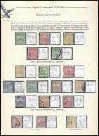 O 1908-1909 18 Db Vízjelhibás Turul Bélyegkiállítási Lapon - Stamps
