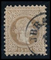O Magyar Posta Romániában 1867 15soldi 'JBRA(ILA)' (40.000) (javított Fogazás /... - Stamps