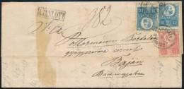 1875 Réznyomat 5kr + 2 X 10kr  2. Súlyfokozatú Ajánlott Levélen 'SZINYÉR... - Stamps