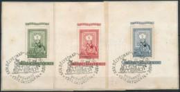 1951 80 éves A Bélyeg Blokksor Kivágásokon (42.000) (rozsdafoltok) - Stamps