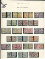 O 1900 Turul 2 Teljes Sor Vastag és Vékony értékszámokkal,... - Stamps