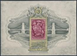 ** 1949 Lánchíd (III.) Blokk (75.000) (pici Ránc/ Small Crease ) - Stamps