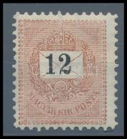 * 1898 12kr Garantáltan Eredeti 11 1/2-es Fogazással (80.000) Rendkívül Ritka RRR! - Stamps