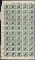 ** 1919 Köztársaság Feketeszámú Portó 50f Középen Hajtott... - Stamps
