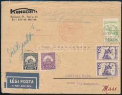 1931 Július 27 Katapult Bérmentesítésű Levél Az USA-ba. A Katapult... - Stamps