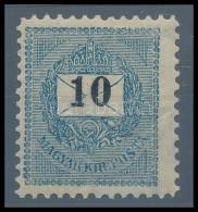 * 1899 10kr Garantáltan Eredeti 11 1/2-es Fogazással (100.000) RRR! (pici Ránc / Light Crease) - Stamps