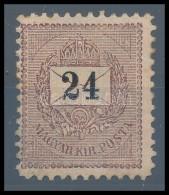 * 1898 24kr Garantáltan Eredeti 11 1/2-es Fogazással (100.000) Rendkívül Ritka RRR! - Stamps