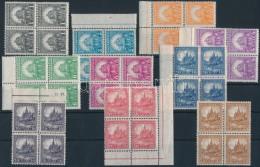 ** 1926 PengÅ'-fillér I. A Sor Négyestömbökben (100.000) (ráncok, Apró... - Stamps