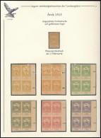 (*) 1913 Árvíz 2f-1K 14 Klf. Fogazatlan Próbanyomat Négyestömb Gumi és... - Stamps