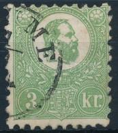 O 1871 KÅ'nyomat 3kr '(FI)UME' (120.000) (pici Elvékonyodás / Small Thin Paper) - Stamps