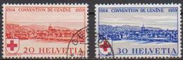 Schweiz 1939 MiNr.357 - 358 O Gest.75 Jahre Rotes Kreuz ( 761 ) Günstige Versandkosten - Usados